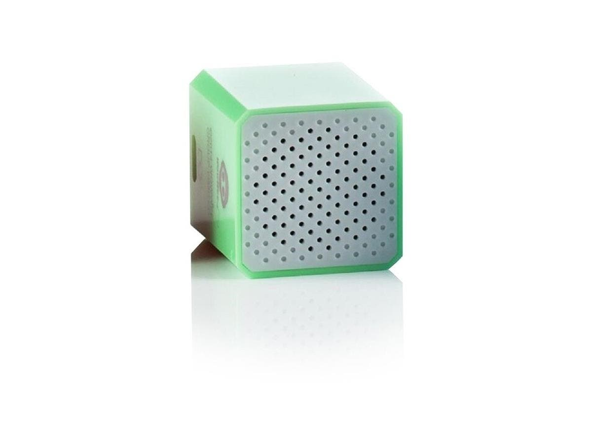 WowWee Groove Cube Shutter - Green - 1 Inch Cube Speaker - Building Bluetooth and Remote Shutter Connect to Smart Device - Hand Free Phone Calls - Connect up to 32 Feet