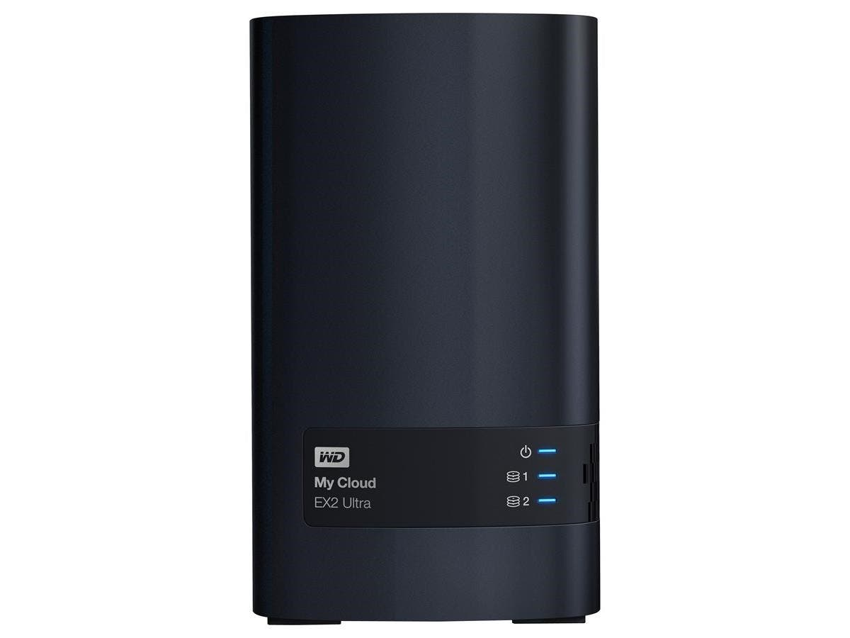 WD My Cloud EX2 Ultra 8TB 2 x 3.5 inch hard drive bays, hot swap capable, tray-less design 8TB My Cloud EX2 Ultra 2-bay NAS WDBVBZ0080JCH-NESN Black