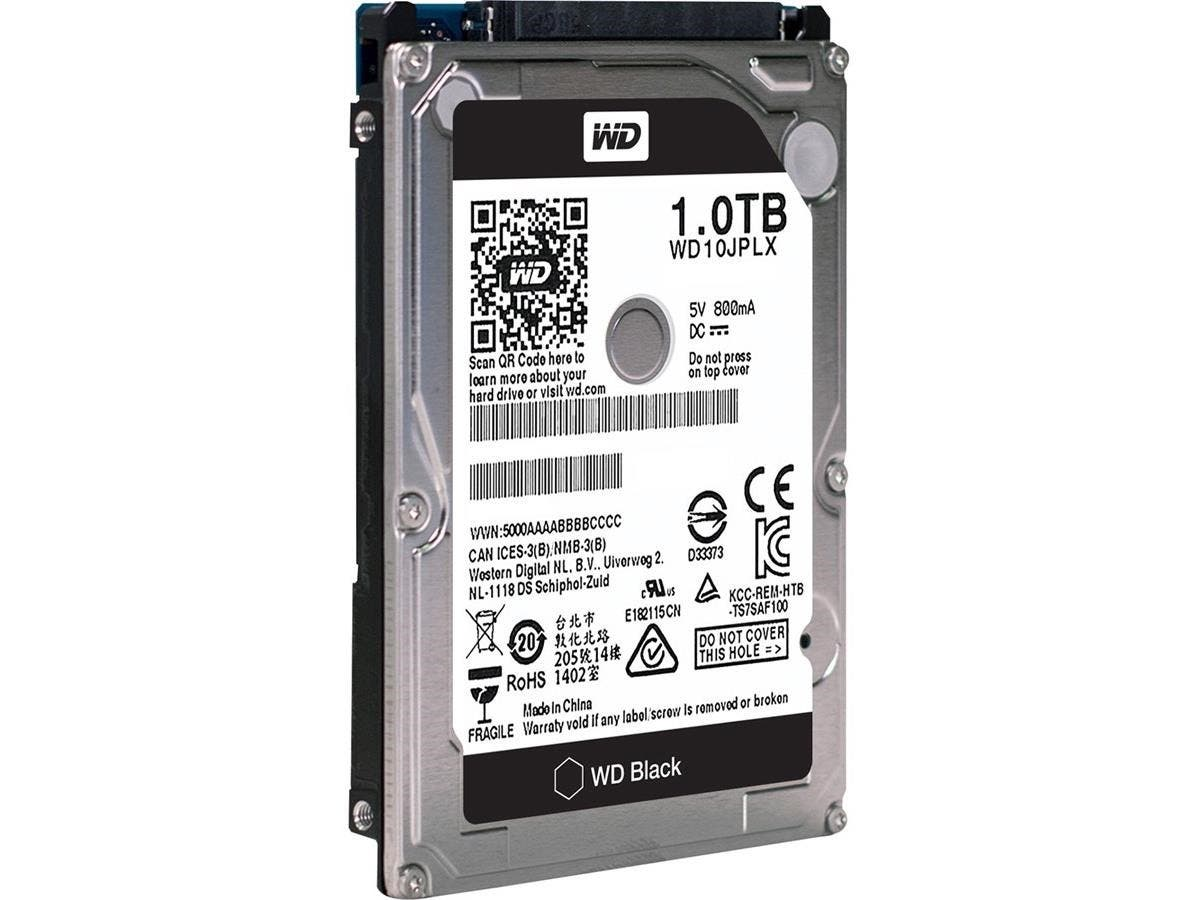 WD Black 2.5-inch 1TB Performance Hard Drive - SATA - 7200rpm - 32 MB Buffer-Large-Image-1