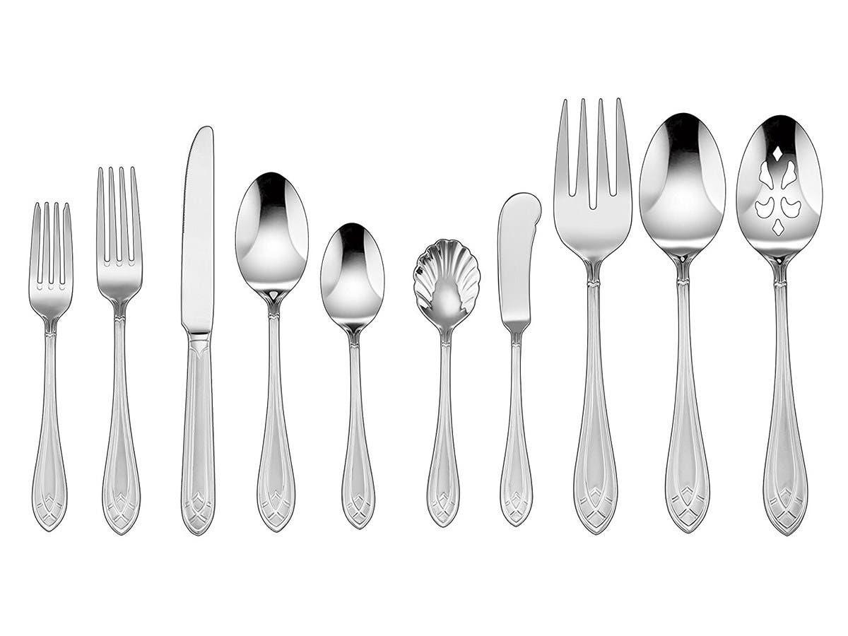 Cuisinart Aeris Collection 45 Piece Flatware Set, Stainless Steel