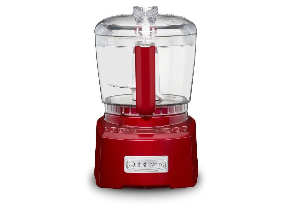 Cuisinart CH-4MR Elite Collection 4-Cup Chopper/Grinder, Metallic Red (Refurbished)