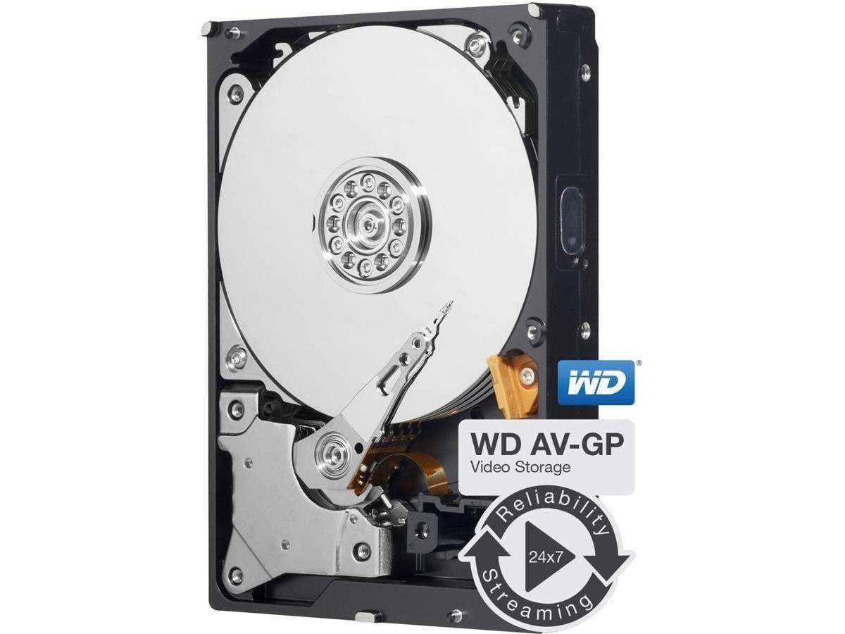 "WD AV-GP WD30EURX 3 TB 3.5"" Internal Hard Drive - SATA - 64 MB Buffer - 1 Pack-Large-Image-1"