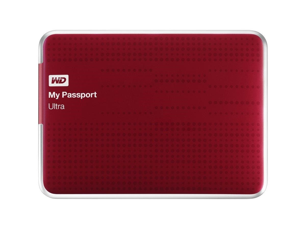 WD My Passport Ultra WDBPGC5000ARD-NESN 500 GB External Hard Drive - USB 3.0 - Portable - Red - Retail