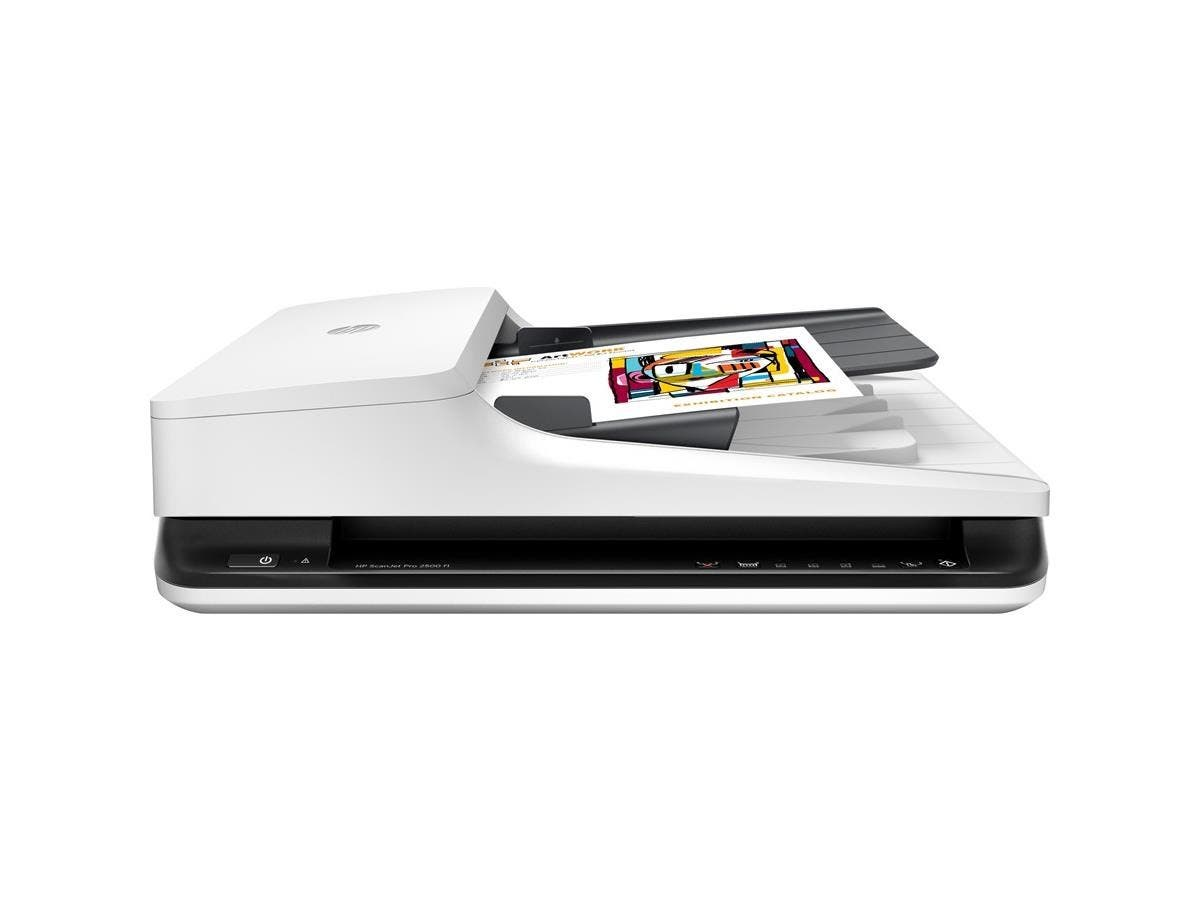 HP ScanJet Pro 2500 f1 Flatbed Scanner - 1200 dpi Optical - 24-bit Color - 8-bit Grayscale - 20 - 20 - Duplex Scanning - USB-Large-Image-1