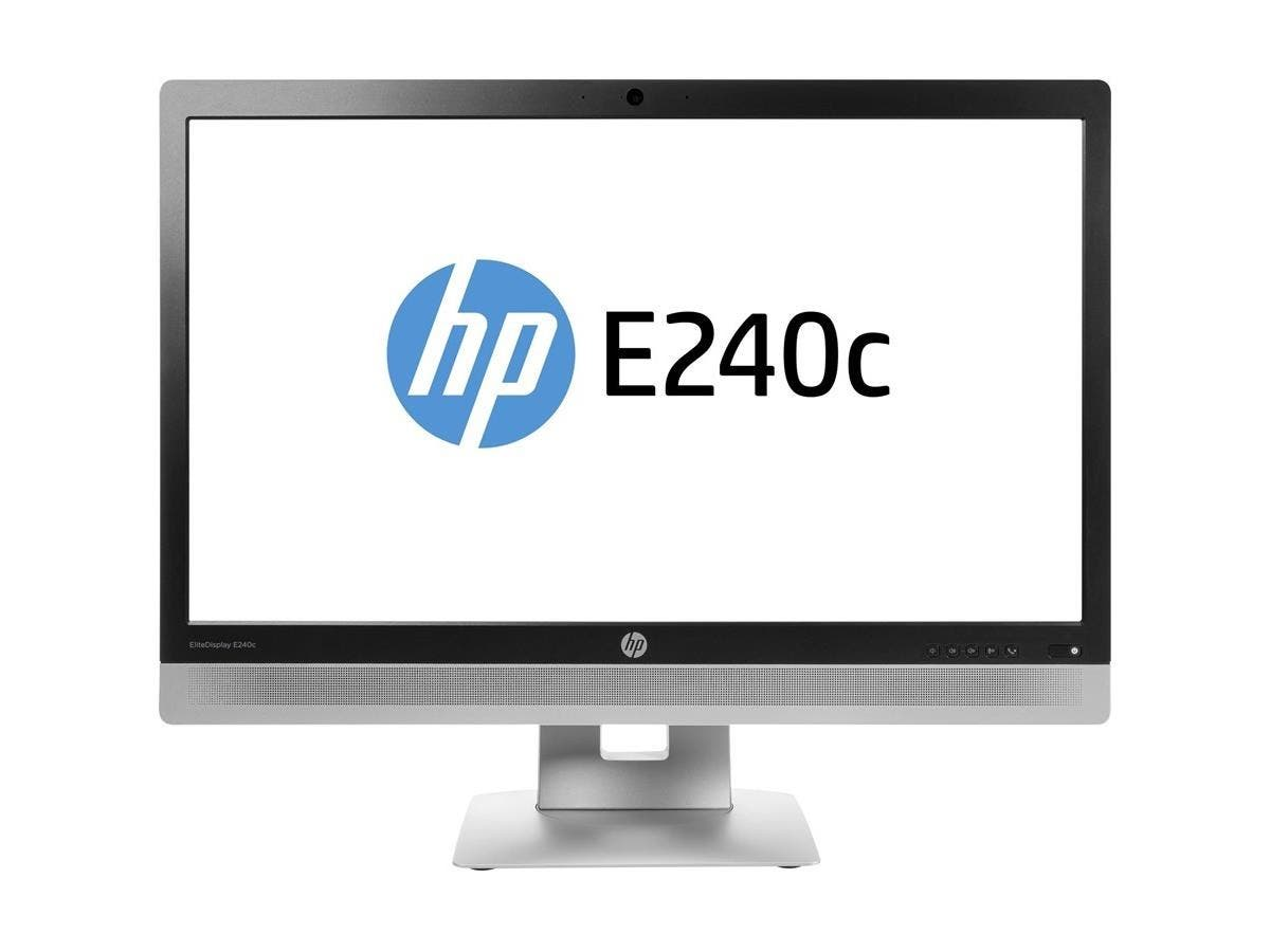 "HP Business E240c 23.8"" LED LCD Monitor - 16:9 - 7 ms - 1920 x 1080 - 250 Nit - 5,000,000:1 - Full HD - Speakers - Webcam - HDMI - VGA - DisplayPort - USB - 43 W - EPEAT Silver, ENERGY STAR"