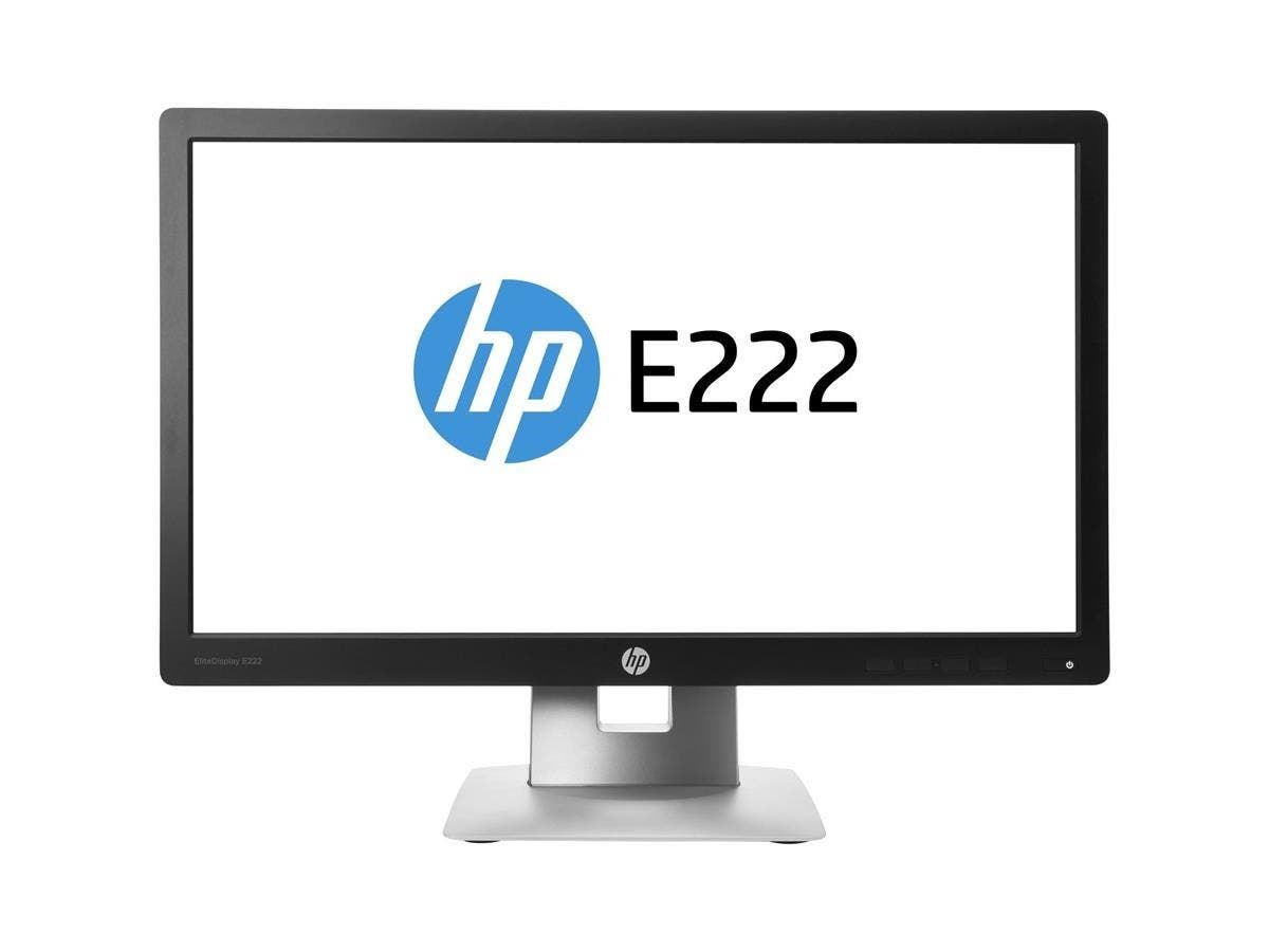 "HP Business E222 21.5"" LED LCD Monitor - 16:9 - 7 ms - 1920 x 1080 - 16.7 Million Colors - 250 Nit - 5,000,000:1 - Full HD - HDMI - VGA - DisplayPort - USB - 35 W - Black, Silver"