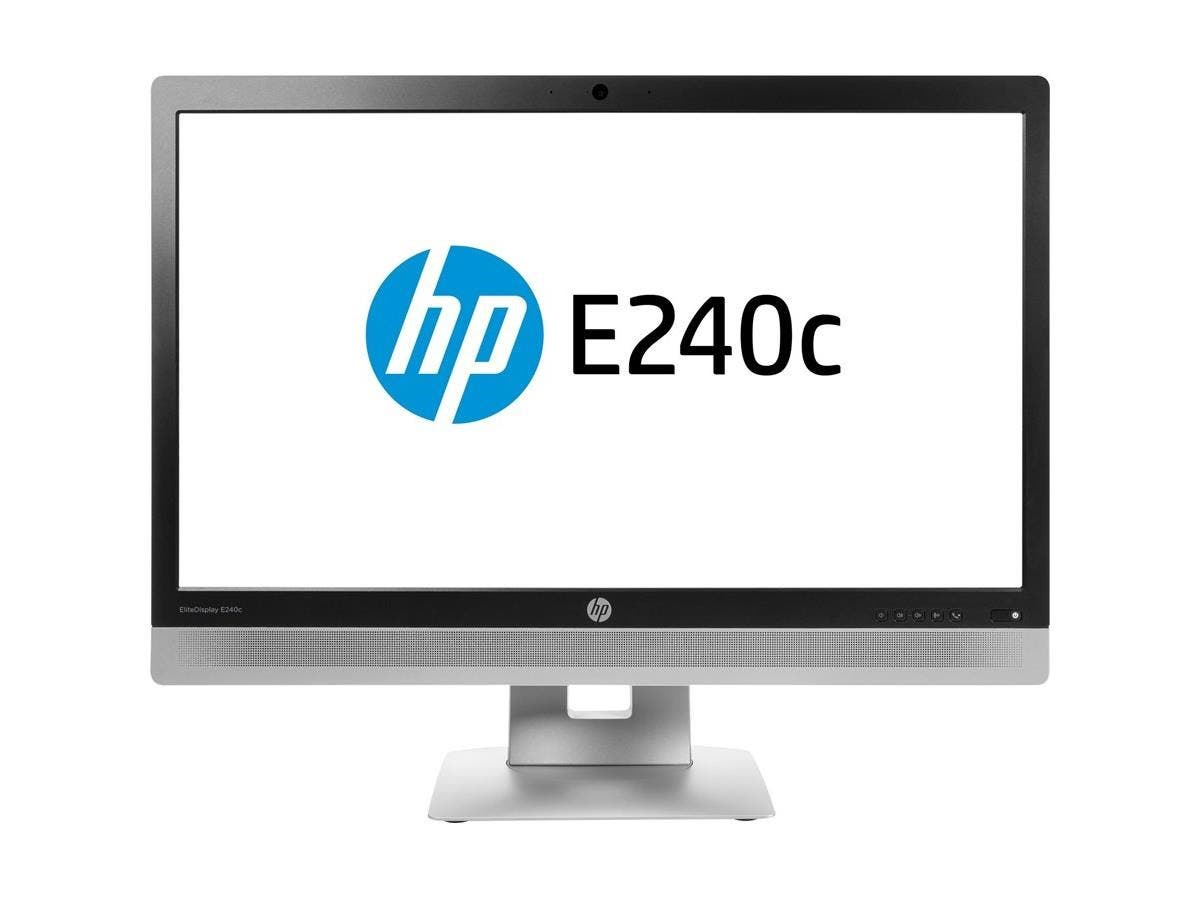 "HP Business E240c 23.8"" LED LCD Monitor - 16:9 - 7 ms - 1920 x 1080 - 16.7 Million Colors - 250 Nit - 5,000,000:1 - Full HD - Speakers - Webcam - HDMI - VGA - DisplayPort - USB  - Black, Silver"