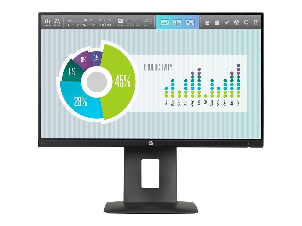 """HP Business Z22n 21.5"""" LED LCD Monitor - 16:9 - 7 ms - 1920 x 1080 - 250 Nit - 5,000,000:1 - Full HD - HDMI - VGA - DisplayPort - USB - 34.70 W - Black"""