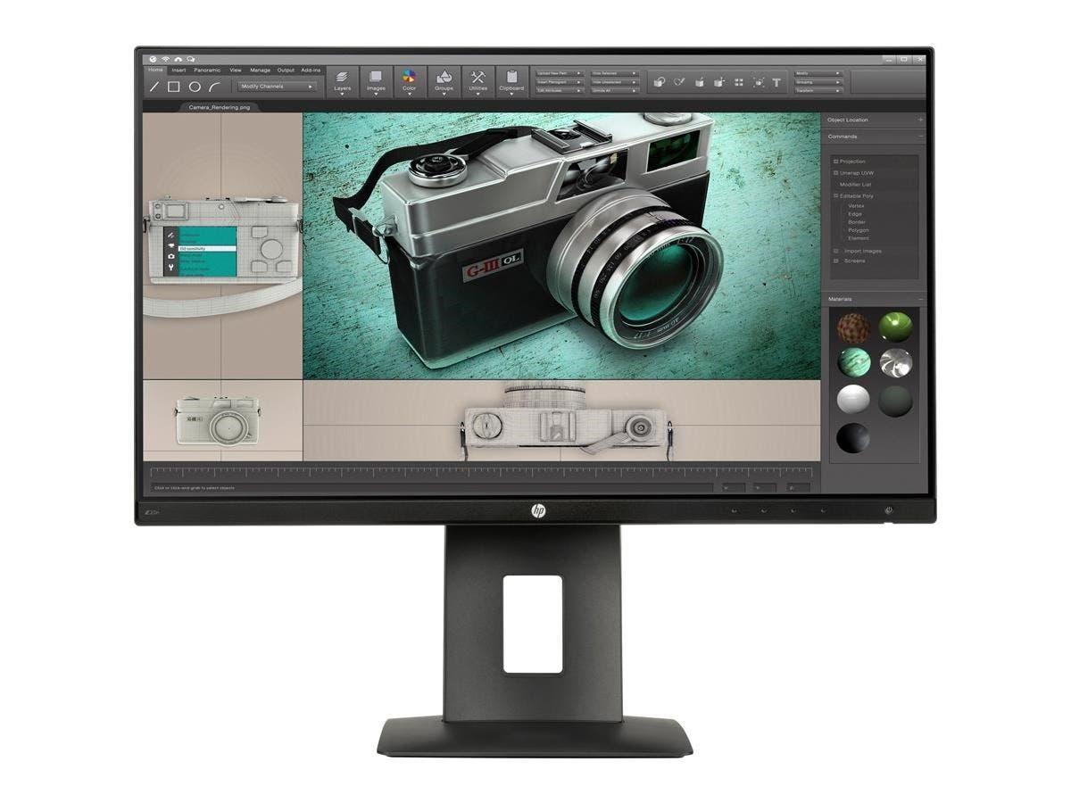"""HP Business Z23n 23"""" LED LCD Monitor - 16:9 - 7 ms - 1920 x 1080 - 16.7 Million Colors - 250 Nit - 5,000,000:1 - Full HD - HDMI - VGA - DisplayPort - USB - 35 W - Black"""