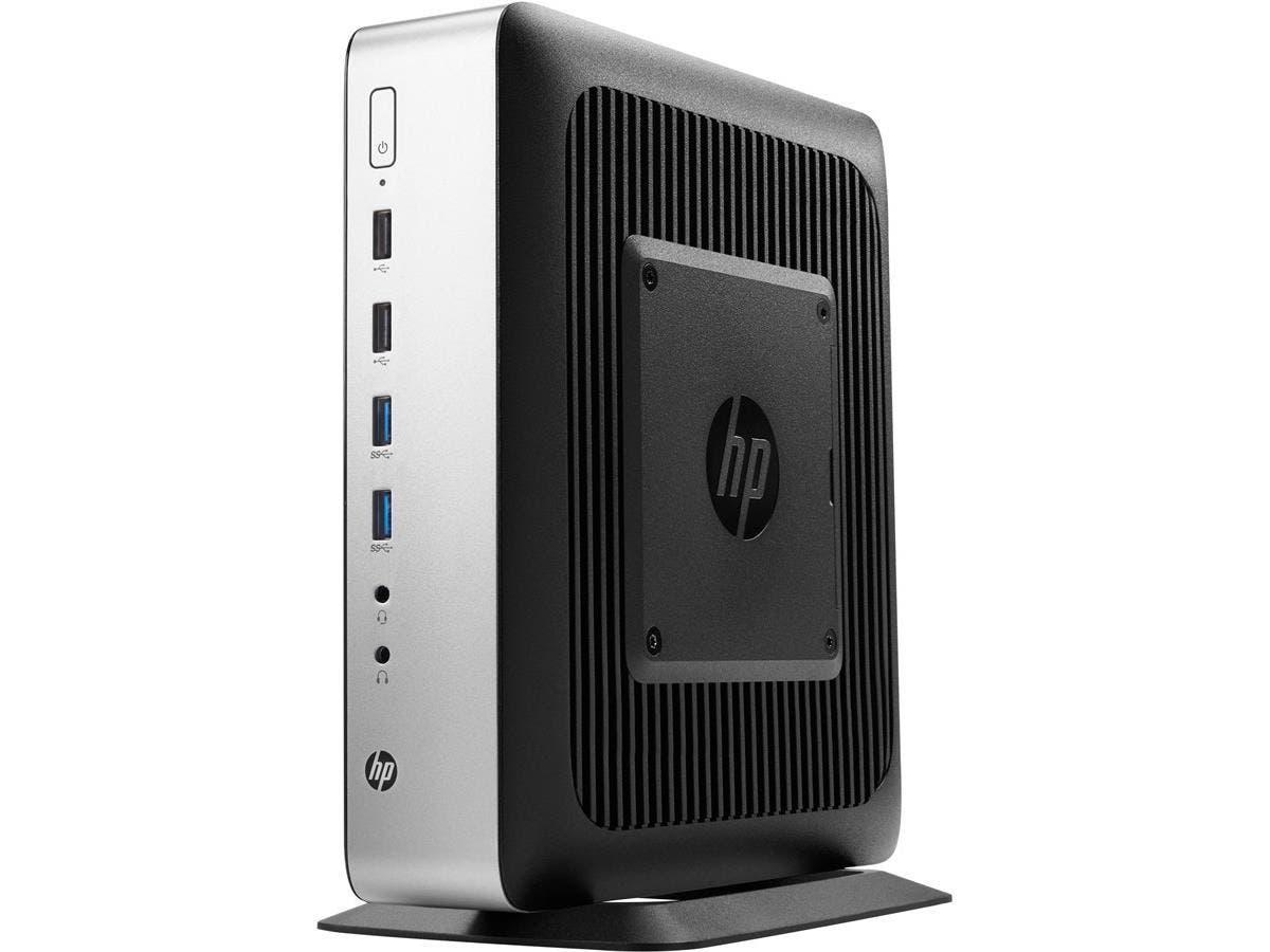 HP Thin Client - AMD R-Series RX-427BB Quad-core (4 Core) 2.70 GHz - 8 GB RAM DDR3L SDRAM - 32 GB Flash - Gigabit Ethernet - Windows 7 Professional - DisplayPort - Network (RJ-45)-Large-Image-1
