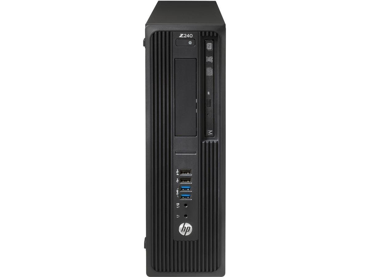 HP Z240 Small Form Factor Workstation - 1 x Processors Supported - 1 x Intel Core i7 i7-6700 Quad-core (4 Core) 3.40 GHz - Black - 8 GB RAM - 64 GB Maximum RAM - DDR4 SDRAM - 4 x Memory Slots - 1 TB S-Large-Image-1