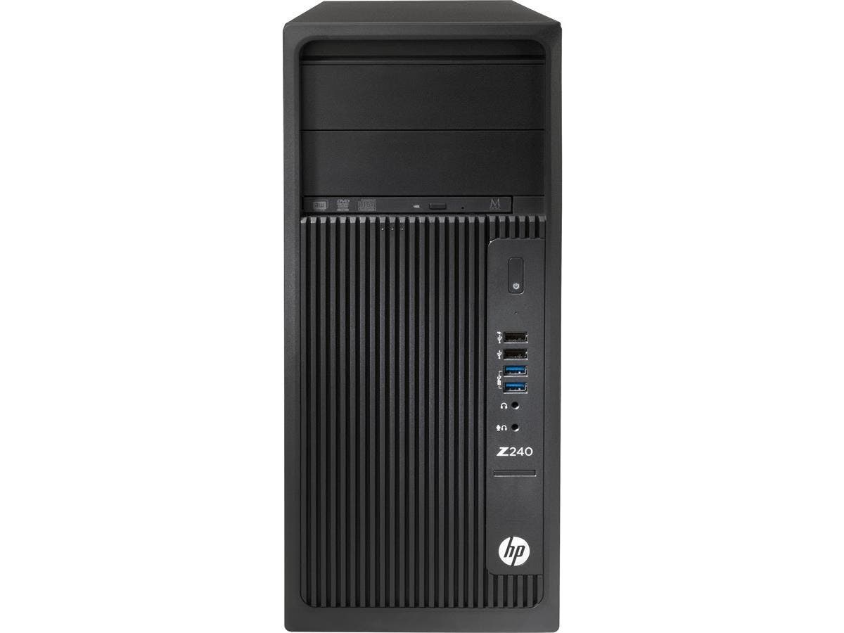 HP Z240 Tower Workstation - 1 x Processors Supported - 1 x Intel Core i7 (6th Gen) i7-6700 Quad-core (4 Core) 3.40 GHz - 8 GB RAM - 64 GB Maximum RAM - DDR4 SDRAM - 4 x Memory Slots - 1 TB Serial -Large-Image-1