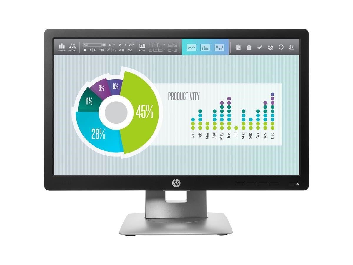 "HP Business E202 20"" LED LCD Monitor - 16:9 - 5 ms - 1600 x 900 - 250 Nit - 5,000,000:1 - HD+ - HDMI - VGA - DisplayPort - USB - 33 W - Black-Large-Image-1"