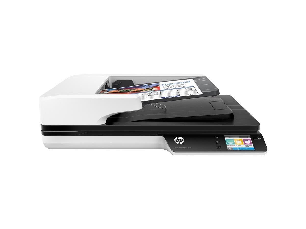 HP ScanJet Pro 4500 fn1 Flatbed Scanner - 1200 dpi Optical - 24-bit Color - 8-bit Grayscale - 30 - 30 - Duplex Scanning - USB-Large-Image-1