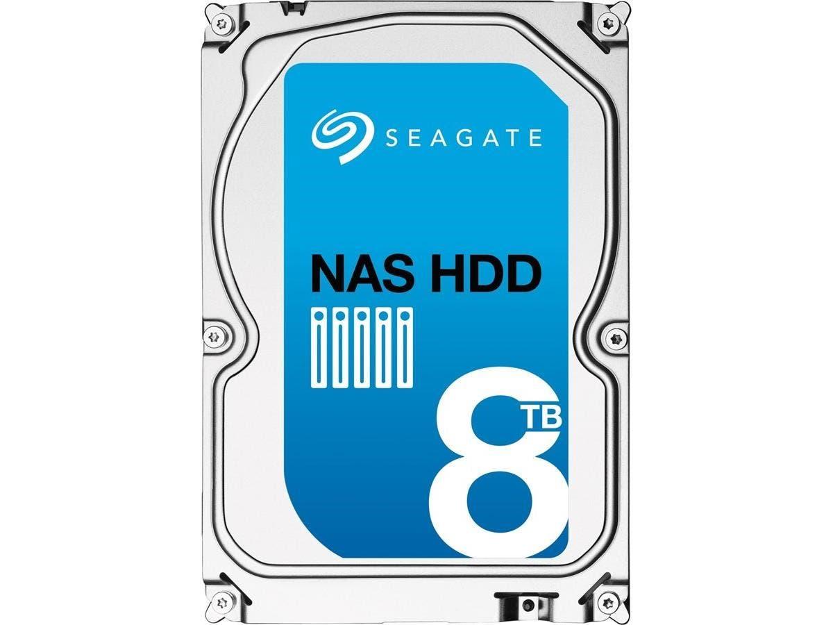 """Seagate ST8000VN0012 8 TB 3.5"""" Internal Hard Drive - SATA - 5900rpm - 256 MB Buffer"""