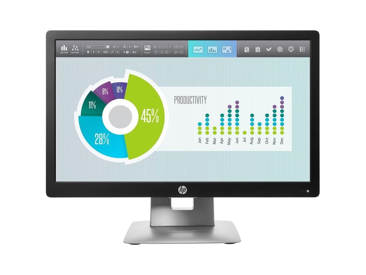 "HP Business E202 20"" LED LCD Monitor - 16:9 - 7 ms - 1600 x 900 - 16.7 Million Colors - 250 Nit - 5,000,000:1 - HD+ - HDMI - VGA - DisplayPort - USB - 33 W-Large-Image-1"