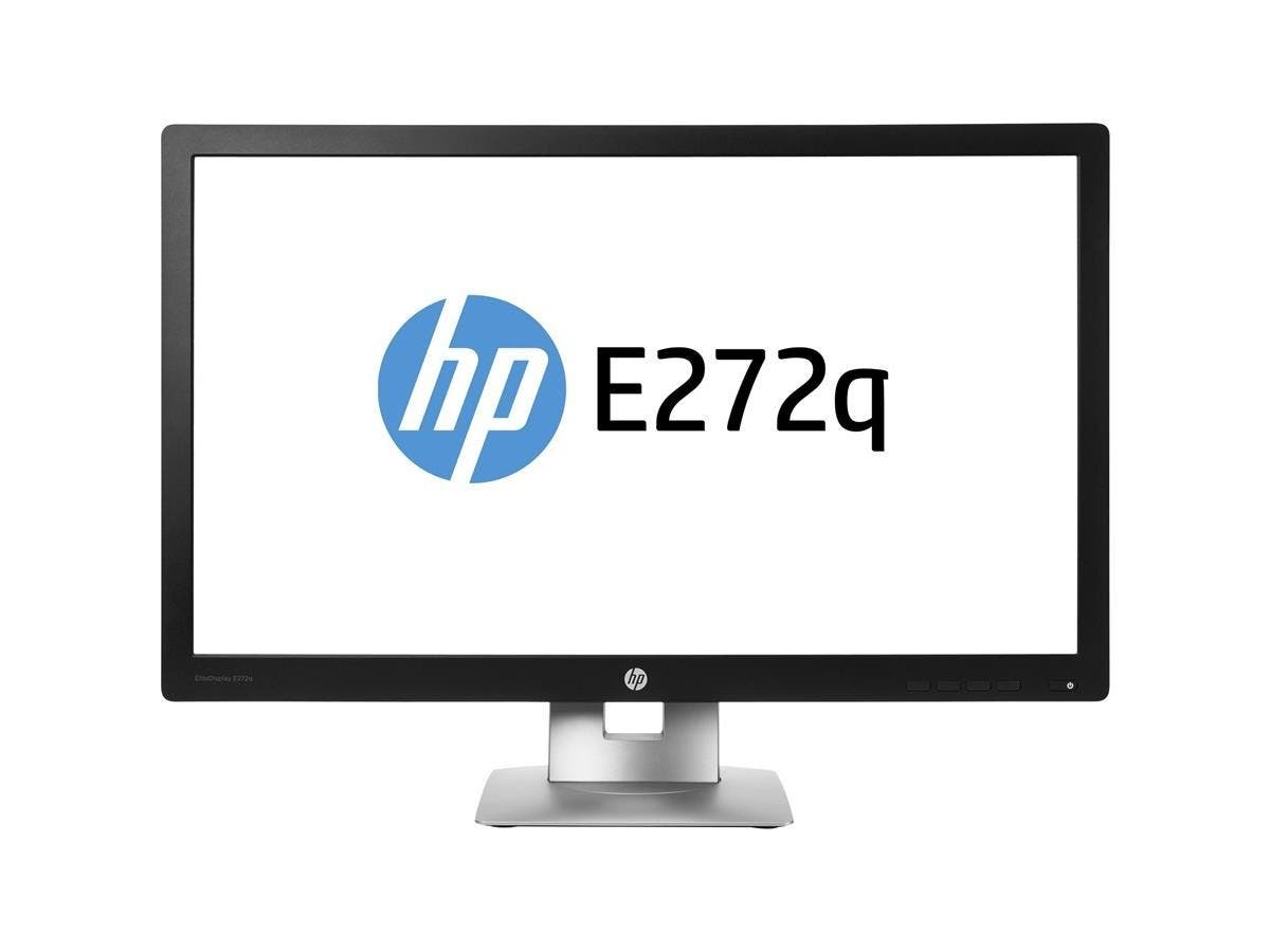 "HP Business E272q 27"" LED LCD Monitor - 16:9 - 7 ms - 2560 x 1440 - 350 Nit - 5,000,000:1 - WQHD - HDMI - VGA - DisplayPort - USB - 55 W - Black, Silver"