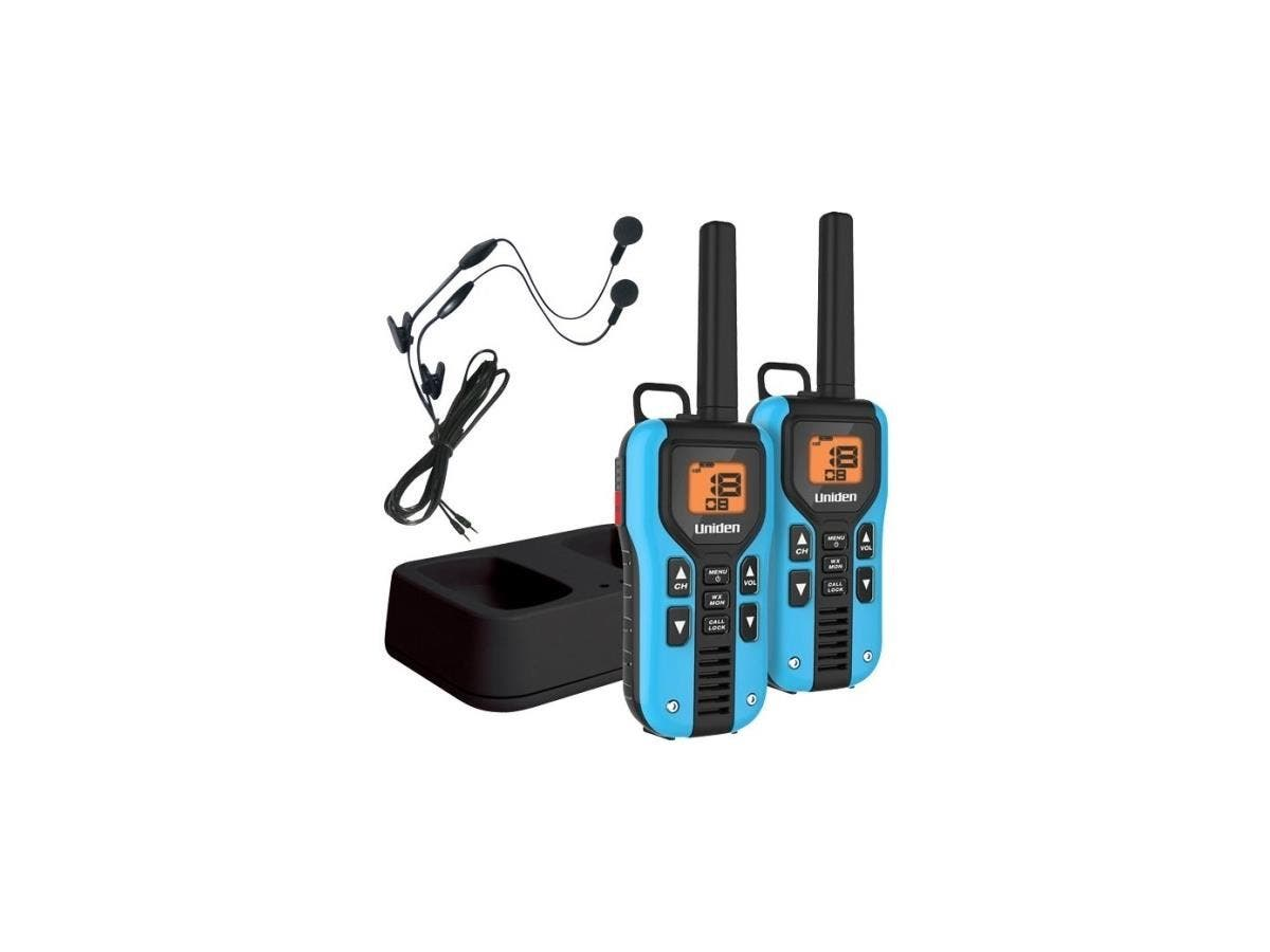 Uniden GMR4055-2CKHS Two Way Radio with Charger and Headsets - 22 x GMRS/FRS - 158400 ft