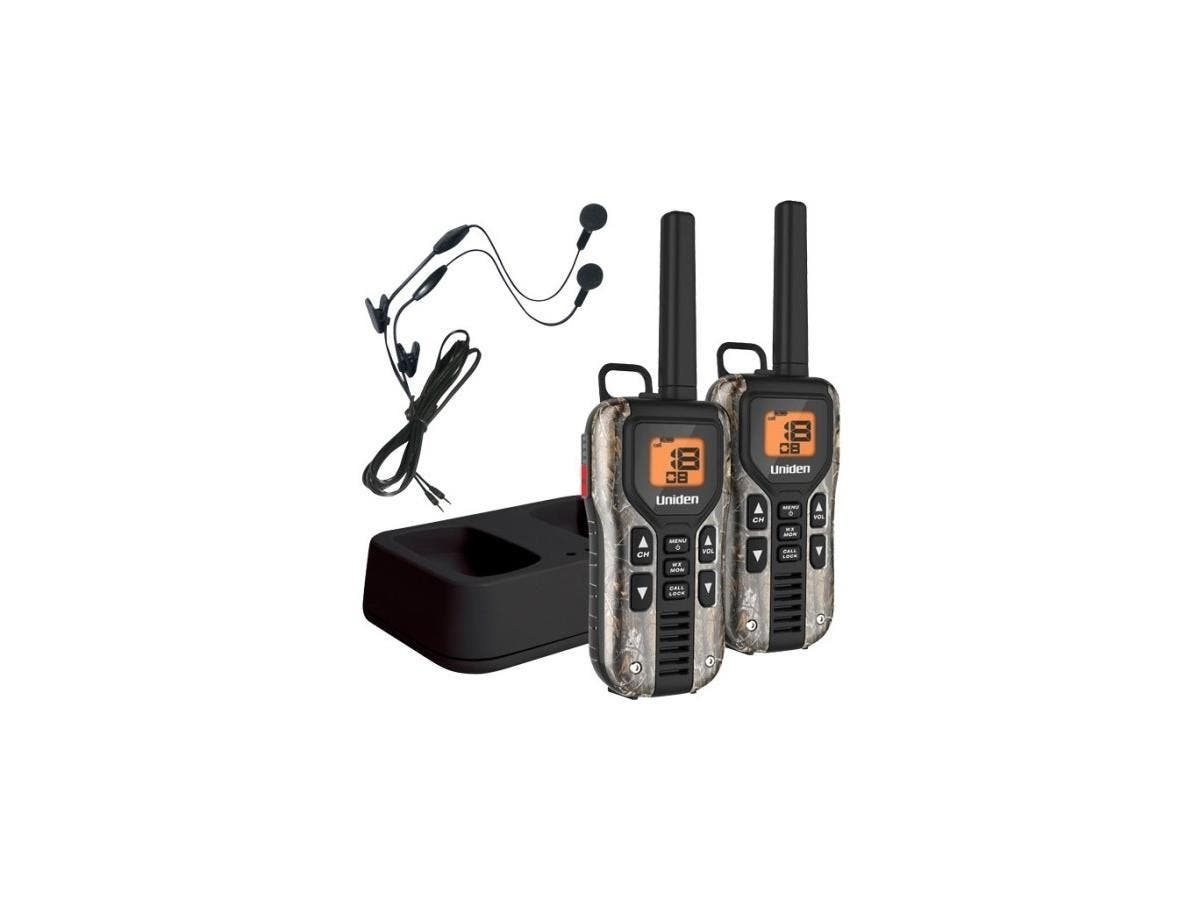 Uniden GMR4088-2CKHS Camo Two Way Radios with Charger and Headsets - 22 x GMRS/FRS - 158400 ft