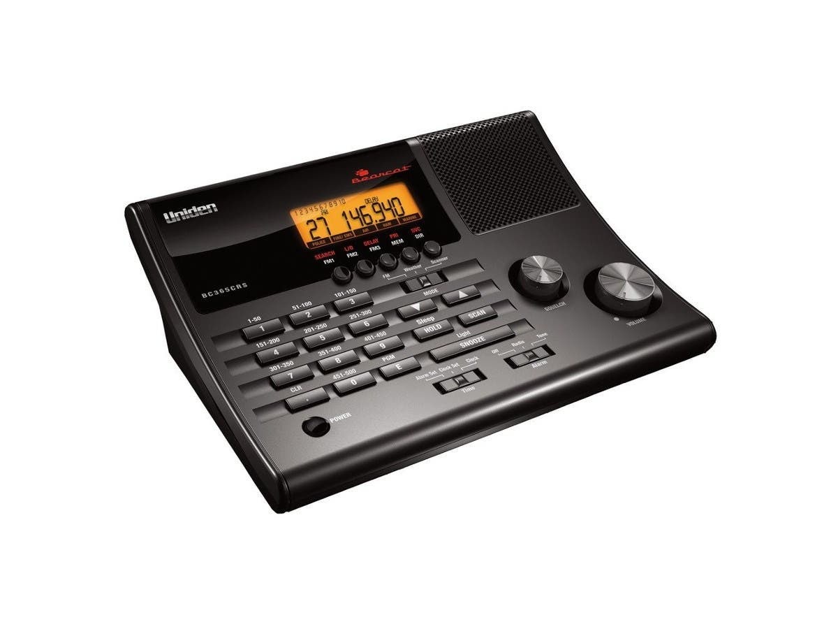 Uniden BC365CRS 500 Channel Clock/FM Radio Scanner with Weather Alert -Large-Image-1