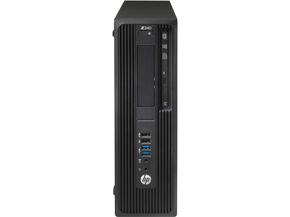HP Z240 Small Form Factor Workstation - 1 x Processors Supported - 1 x Intel Xeon E3-1270 v5 Quad-core (4 Core) 3.60 GHz - Black - 16 GB RAM - 64 GB Maximum RAM - DDR4 SDRAM - 4 x Memory Slots