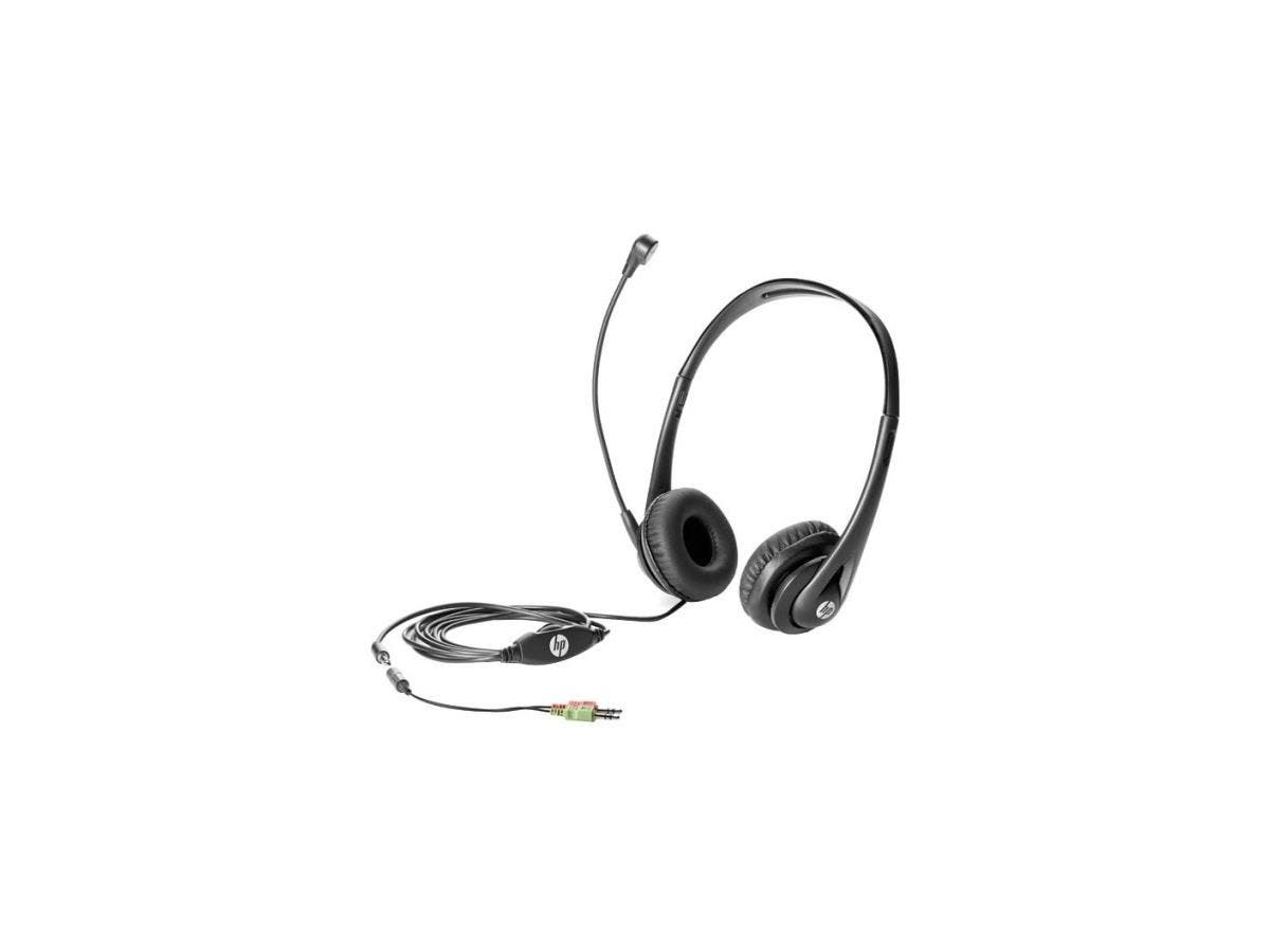 HP Business Headset v2 - Stereo - Mini-phone - Wired - Over-the-head - Binaural - Supra-aural-Large-Image-1