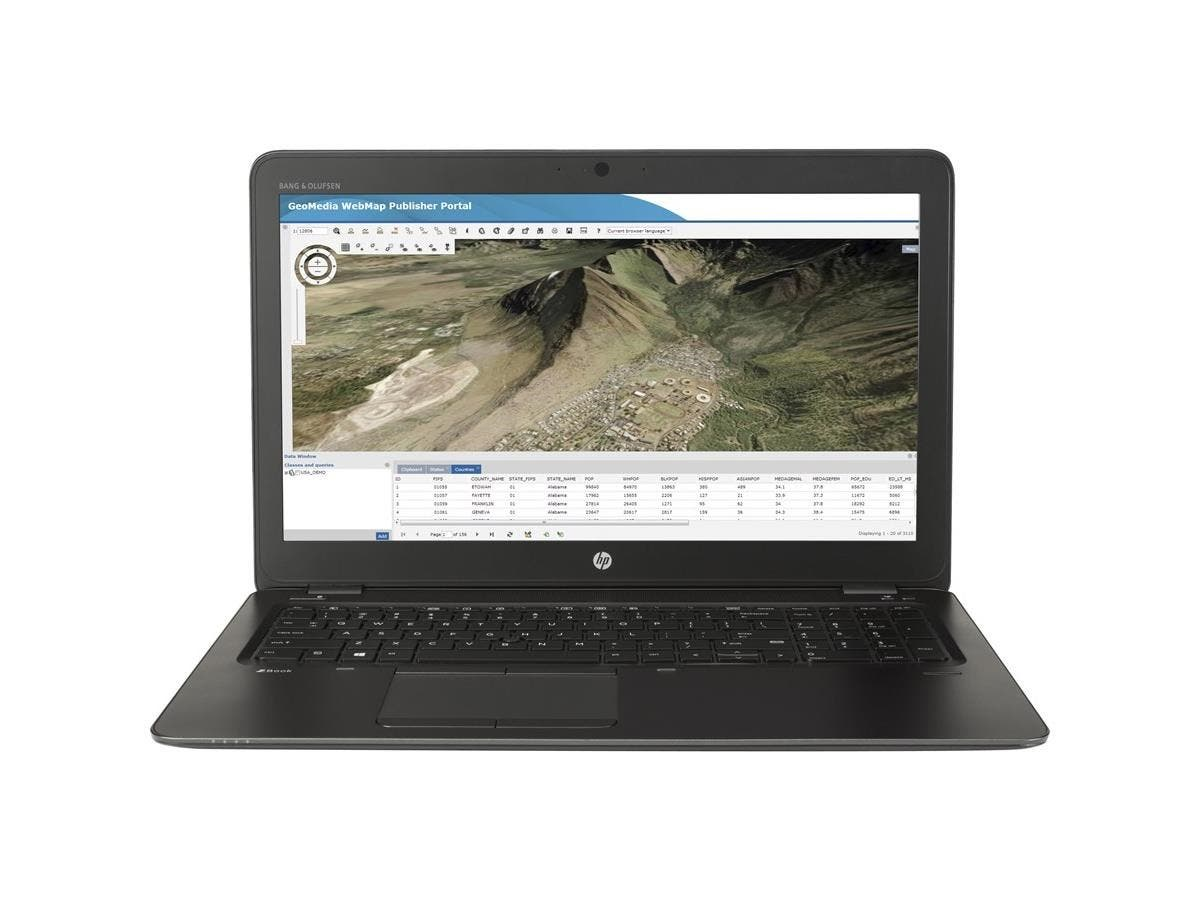 "HP ZBook 15u G3 15.6"" (In-plane Switching (IPS) Technology) Mobile Workstation - Intel Core i7 (6th Gen) i7-6500U Dual-core (2 Core) 2.50 GHz - 8 GB DDR4 SDRAM - 256 GB SSD - AMD FirePro W4190M 2 -Large-Image-1"
