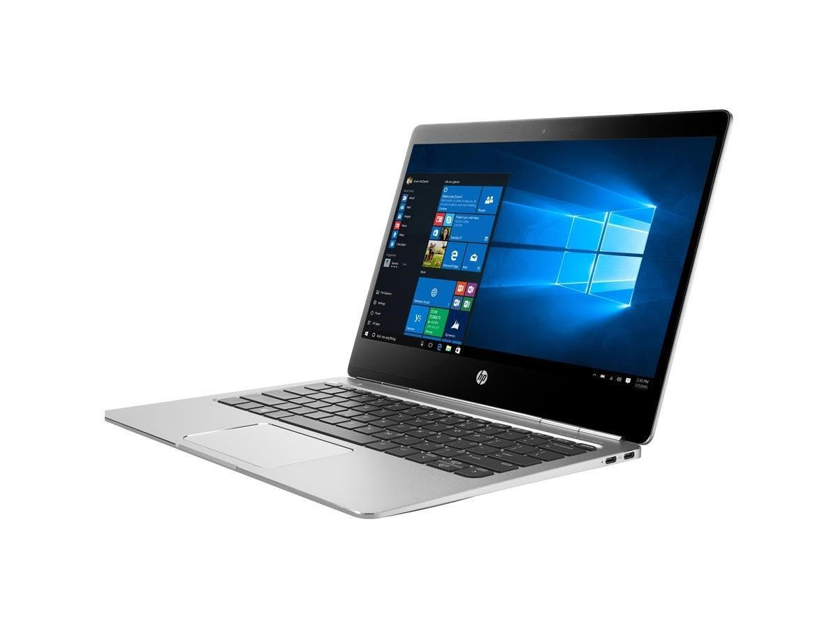"HP EliteBook Folio G1 12.5"" Touchscreen Ultrabook - Intel Core M (6th Gen) m5-6Y57 Dual-core (2 Core) 1.10 GHz - 8 GB LPDDR3 RAM - 256 GB SSD - Intel HD Graphics 515 LPDDR3 - Windows 10 Pro-Large-Image-1"