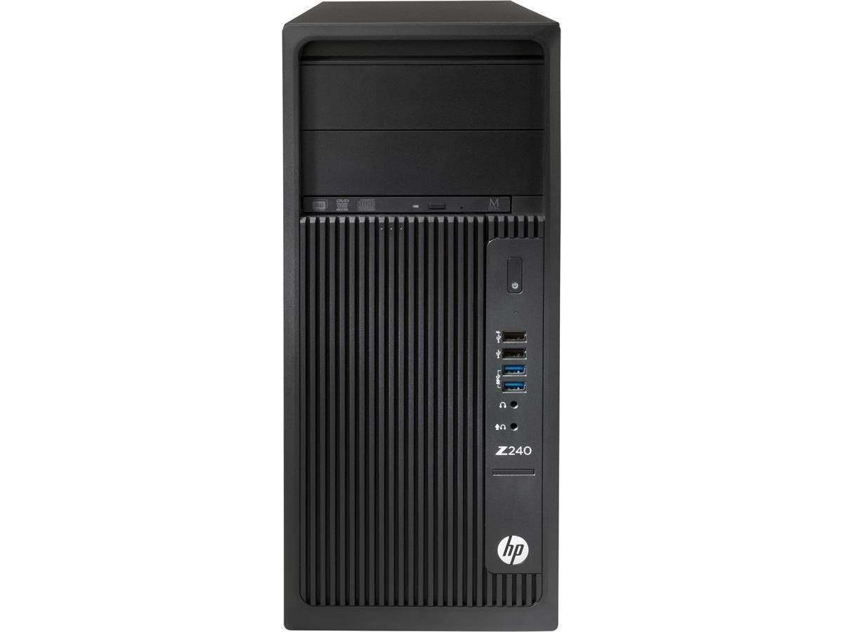 HP Z240 Tower Workstation - 1 x Processors Supported - 1 x Intel Xeon E3-1270 v5 Quad-core (4 Core) 3.60 GHz - Black - 16 GB RAM - 64 GB Maximum RAM - DDR4 SDRAM - 4 x Memory Slots - 2 TB Serial ATA/6-Large-Image-1