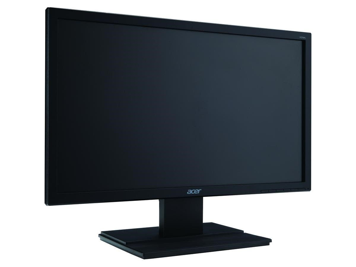 "Acer V276HL 27"" LED LCD Monitor - 16:9 - 6 ms - 1920 x 1080 - 300 Nit - Full HD - Speakers - DVI - HDMI - VGA - DisplayPort - Black - TCO Certified Displays 6.0-Large-Image-1"
