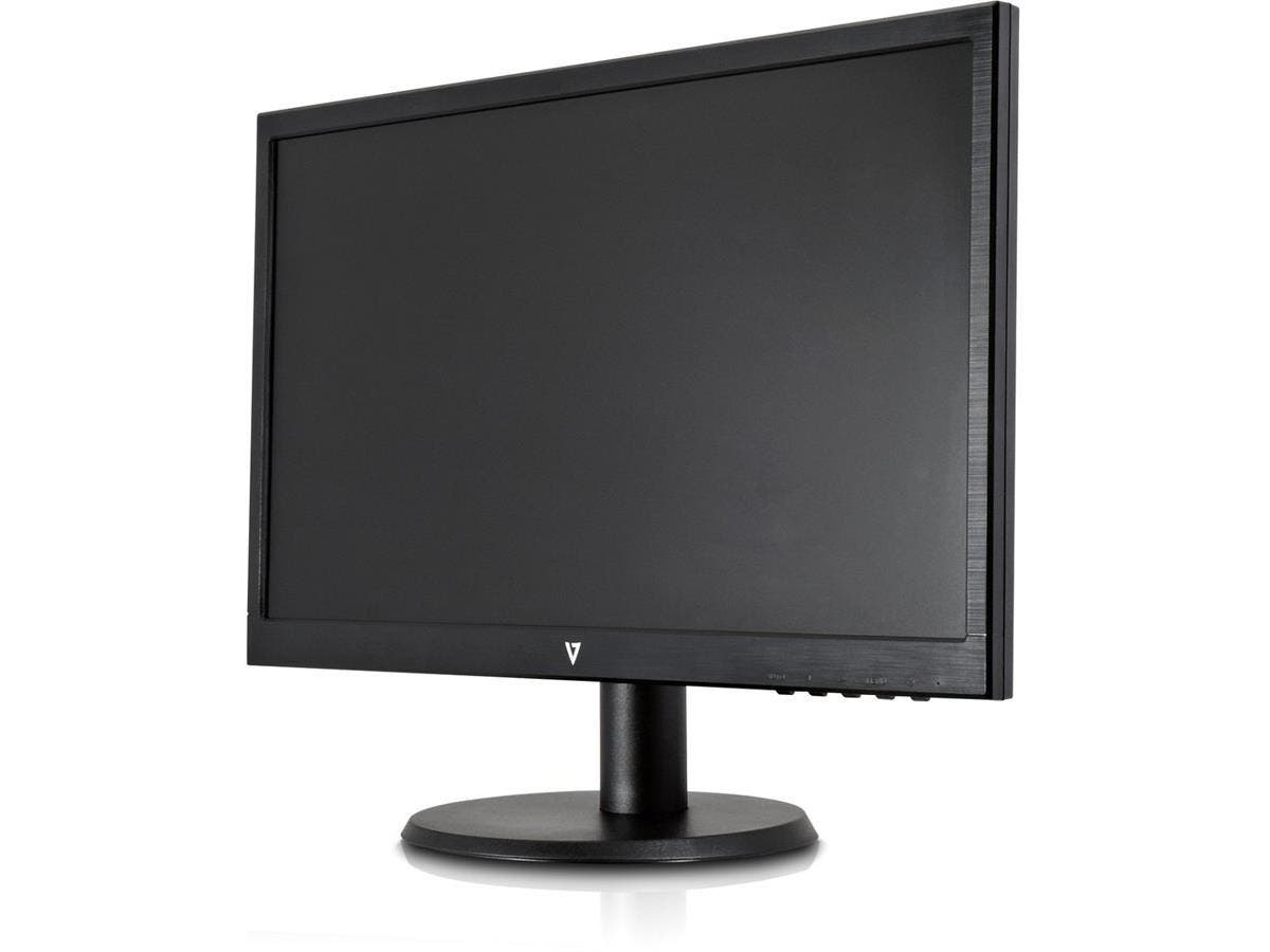 "V7 L215DS-2N 22"" LED LCD Monitor - 16:9 - 5 ms - 1920 x 1080 - 16.7 Million Colors - 250 Nit - 1,000,000:1 - Full HD - Speakers - DVI - VGA - 20 W - Black - WEEE, RoHS-Large-Image-1"