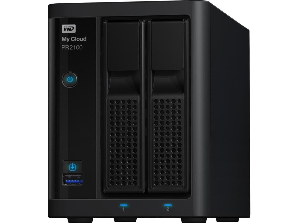 WD 16TB My Cloud PR2100 Pro Series Media Server with Transcoding, NAS - Network Attached Storage - Intel Pentium N3710 Quad-core (4 Core) 1.60 GHz - 2 x Total Bays - 16 TB HDD - 4 GB RAM DDR3L SDRAM --Large-Image-1