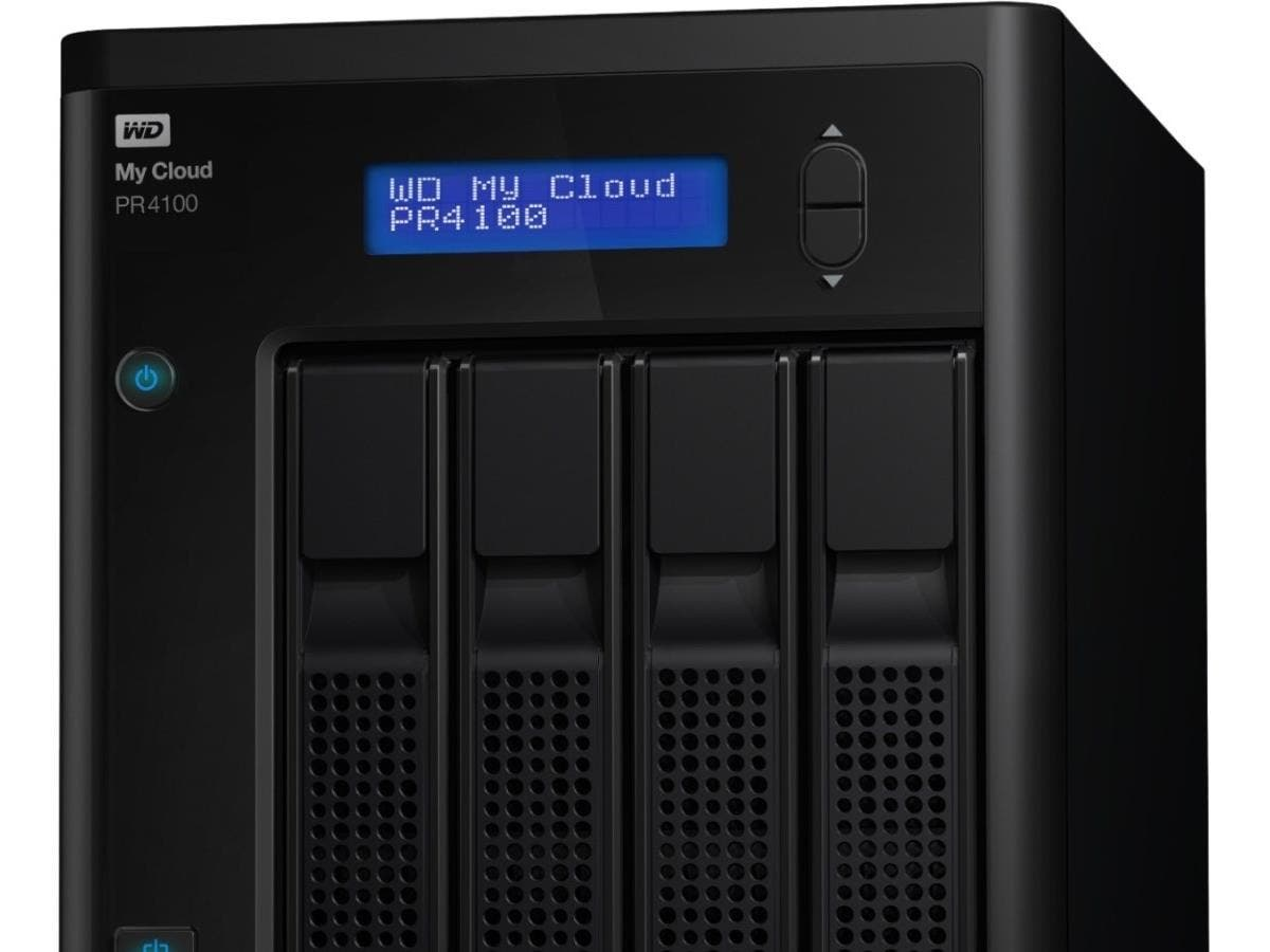 WD 0TB My Cloud PR4100 Pro Series Diskless Media Server with Transcoding, NAS - Network Attached Storage - Intel Pentium N3710 Quad-core (4 Core) 1.60 GHz - 4 x Total Bays - 4 GB RAM DDR3L SDRAM - RAI-Large-Image-1