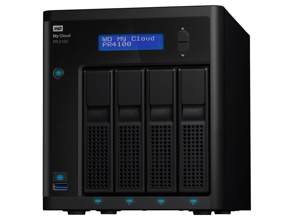 WD 24TB My Cloud PR4100 Pro Series Media Server with Transcoding, NAS - Network Attached Storage - Intel Pentium N3710 Quad-core (4 Core) 1.60 GHz - 4 x Total Bays - 24 TB HDD - 4 GB RAM DDR3L SDRAM -