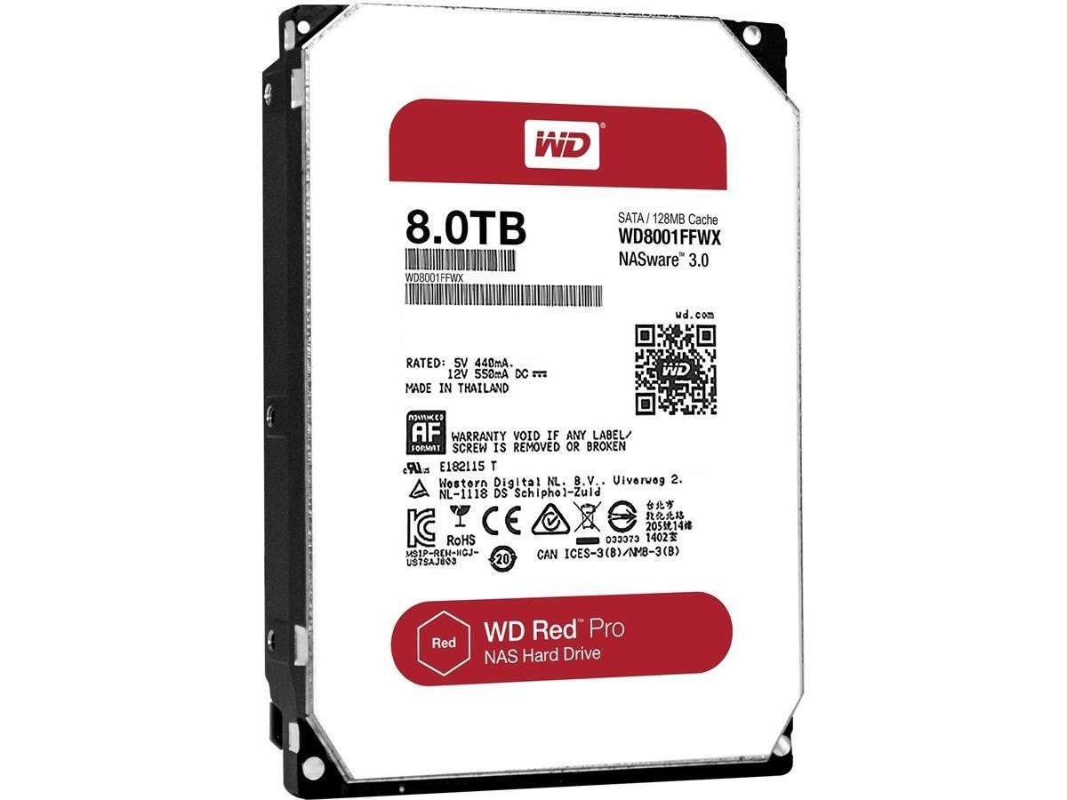 WD Red Pro 8TB NAS hard drive - SATA - 7200rpm - 128 MB Buffer