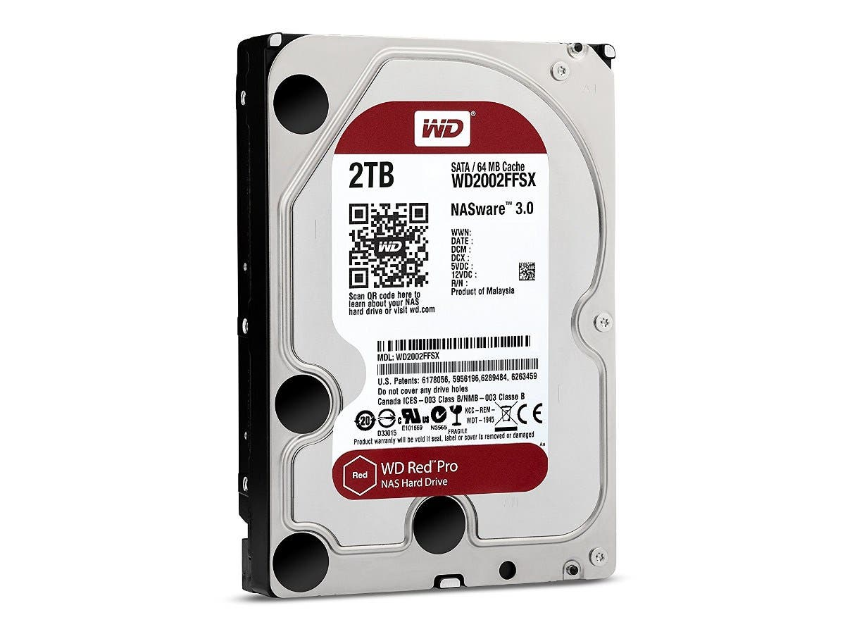 "WD Red Pro 2 TB 3.5"" Internal Hard Drive - SATA - 7200rpm - 64 MB Buffer-Large-Image-1"