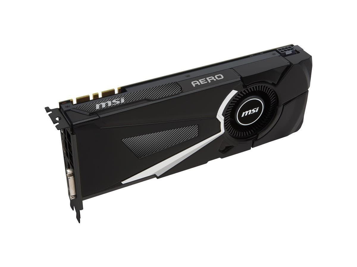 MSI GTX 1070 AERO 8G OC GeForce GTX 1070 Graphic Card - 1.53 GHz Core - 1.72 GHz Boost Clock - 8 GB GDDR5 - PCI Express 3.0 x16 - 256 bit Bus Width - SLI - Fan Cooler - DirectX 12, OpenGL 4.5