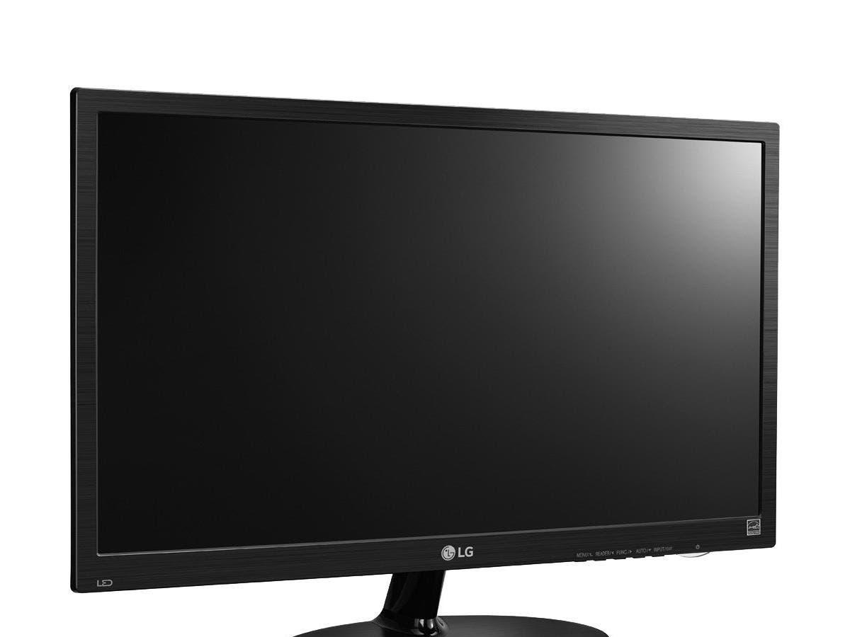 """LG 19M38D-B 19"""" LED LCD Monitor - 16:9 - 5 ms - 1366 x 768 - 16.7 Million Colors - 200 Nit - WXGA - DVI - VGA - 18 W - Textured Black, High Glossy Black -Large-Image-1"""