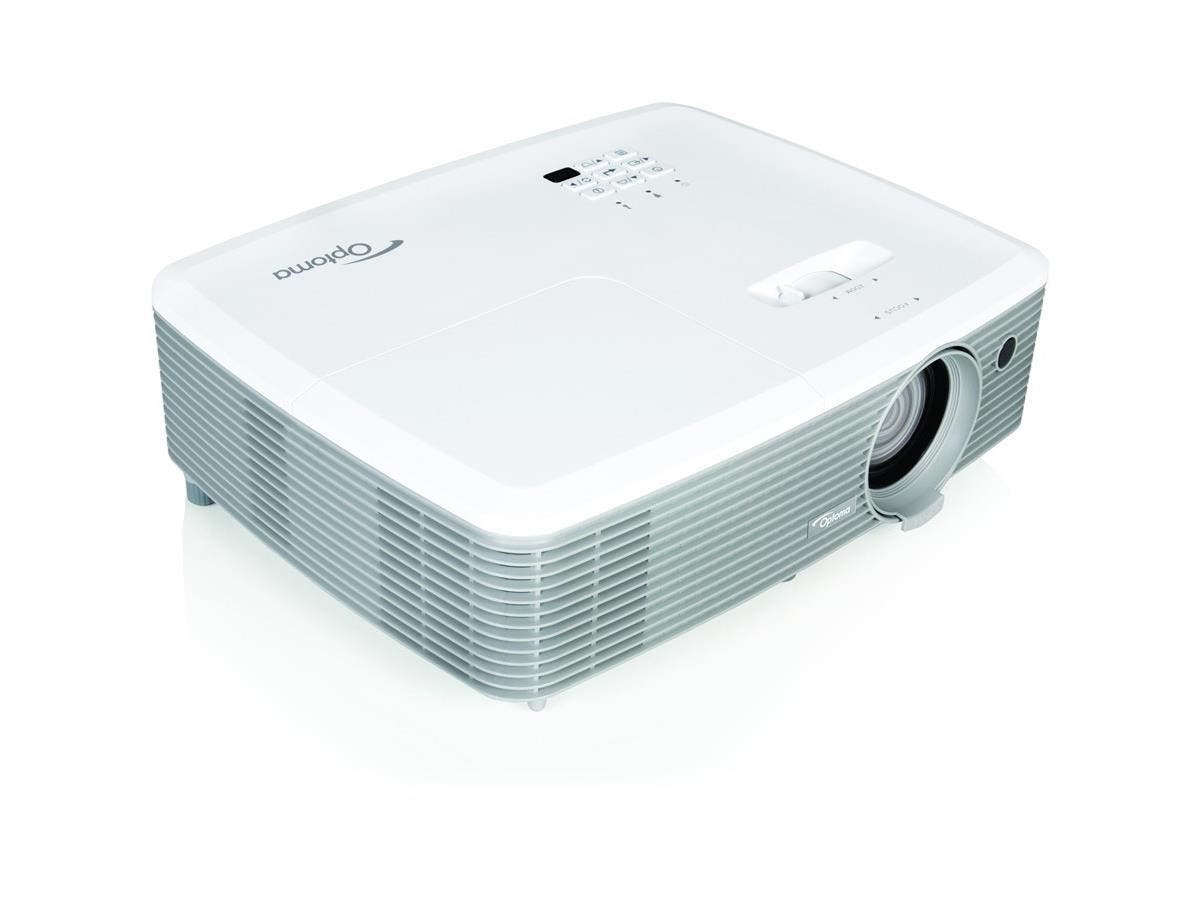 Optoma W345 3D DLP Projector - 720p - HDTV - 16:10 - Ceiling, Front - 195 W - 5000 Hour Normal Mode - 6000 Hour Economy Mode - 1280 x 800 - WXGA - 22,000:1 - 3300 lm - HDMI - USB - 225 W-Large-Image-1