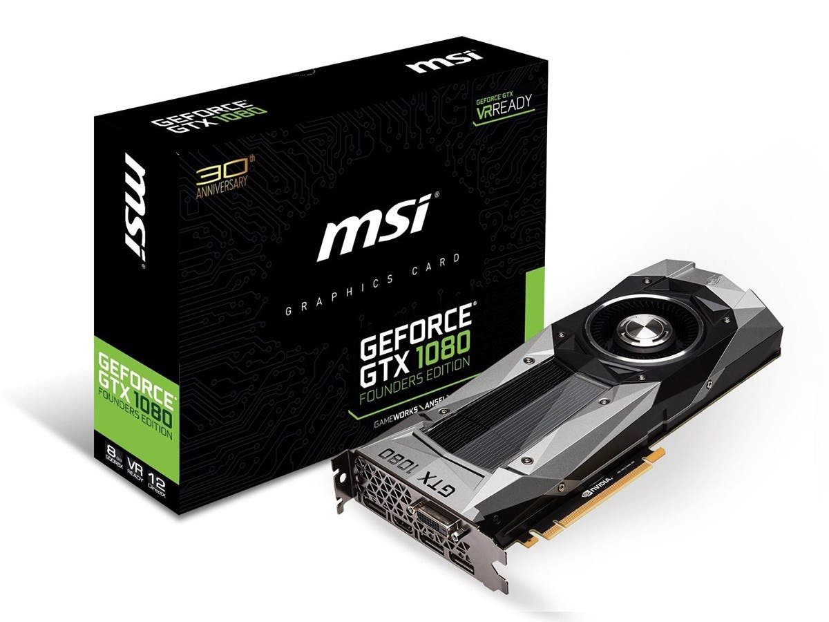 MSI GeForce GTX 1080 Founders Edition 8GB GDDR5X PCI Express 3.0 Graphics Card