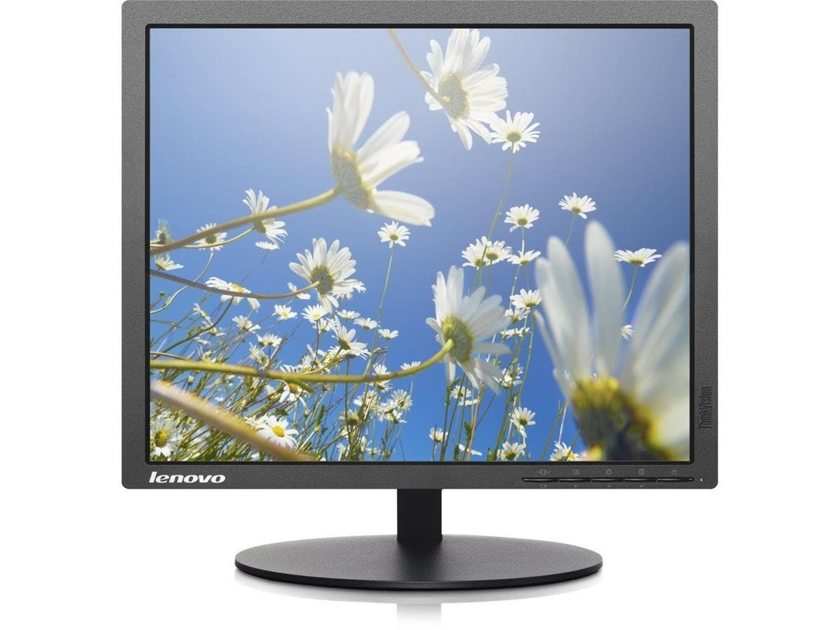 "Lenovo ThinkVision T1714p 17"" LED LCD Monitor - 5:4 - 1280 x 1024 - 16.7 Million Colors - 250 Nit - SXGA - DVI - VGA - DisplayPort - 14 W - Raven Black - TCO Certified Displays 6.0"