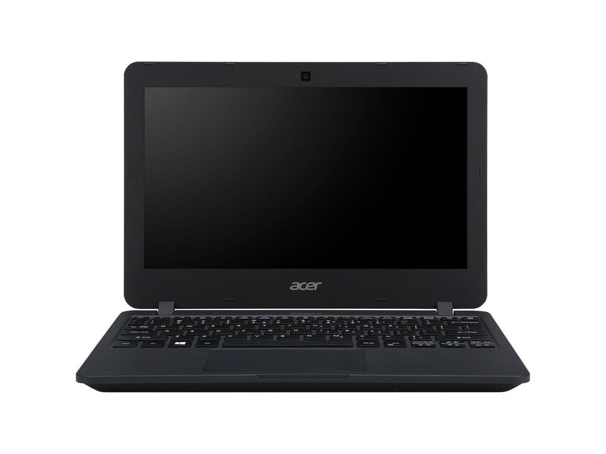 "Acer TravelMate B117-M TMB117-M-C9GH 11.6"" LED (ComfyView) Notebook - Intel Celeron N3160 Quad-core (4 Core) 1.60 GHz - 4 GB DDR3L SDRAM RAM - 128 GB SSD - Intel HD Graphics 400 DDR3L SDRAM-Large-Image-1"