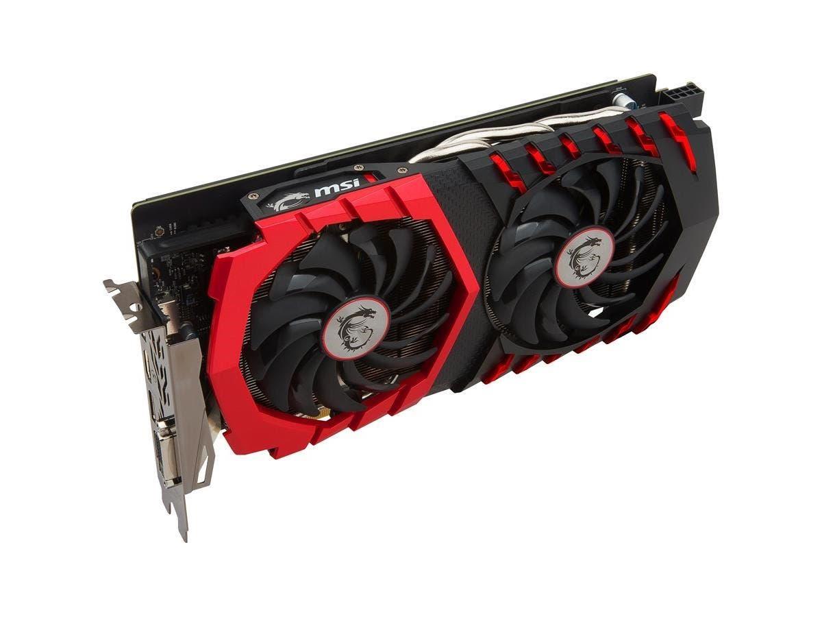 MSI GTX 1060 GAMING X 6G GeForce GTX 1060 Graphic Card - 1.59 GHz Core - 1.81 GHz Boost Clock - 6 GB GDDR5 - PCI Express 3.0 x16 - 192 bit Bus Width - Fan Cooler - DirectX 12, OpenGL 4.5