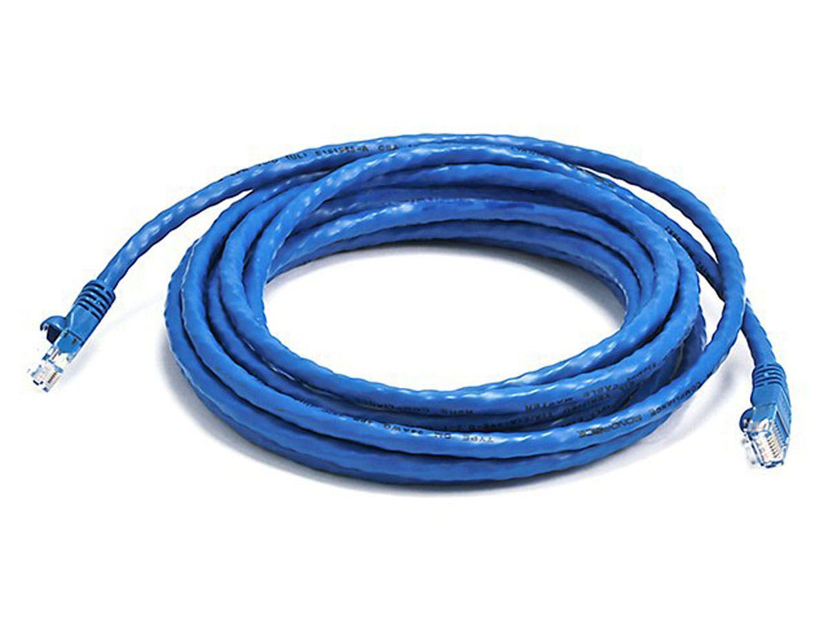 Cat6 24AWG UTP Ethernet Network Patch Cable, 14ft Blue
