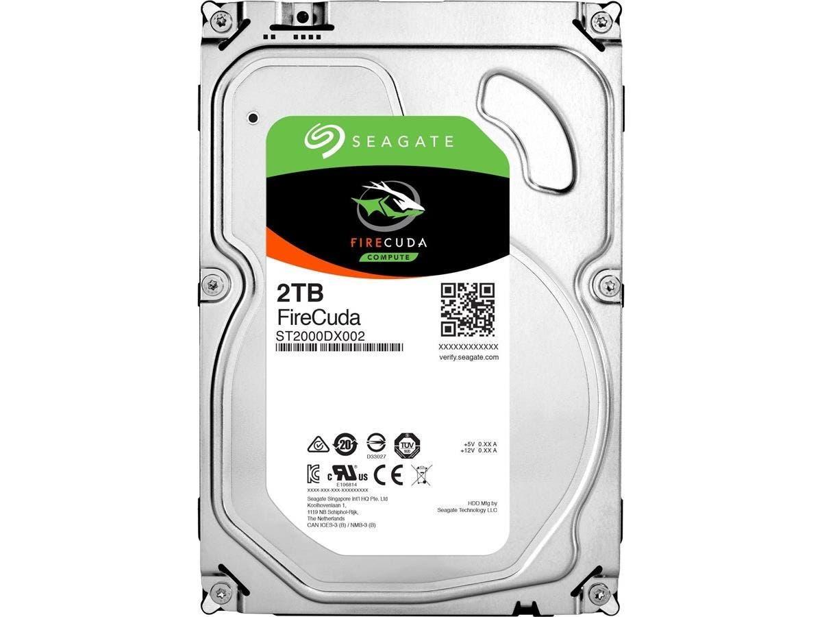 "Seagate FireCuda ST2000DX002 2 TB 3.5"" Internal Hybrid Hard Drive - SATA - 7200rpm - 64 MB Buffer-Large-Image-1"