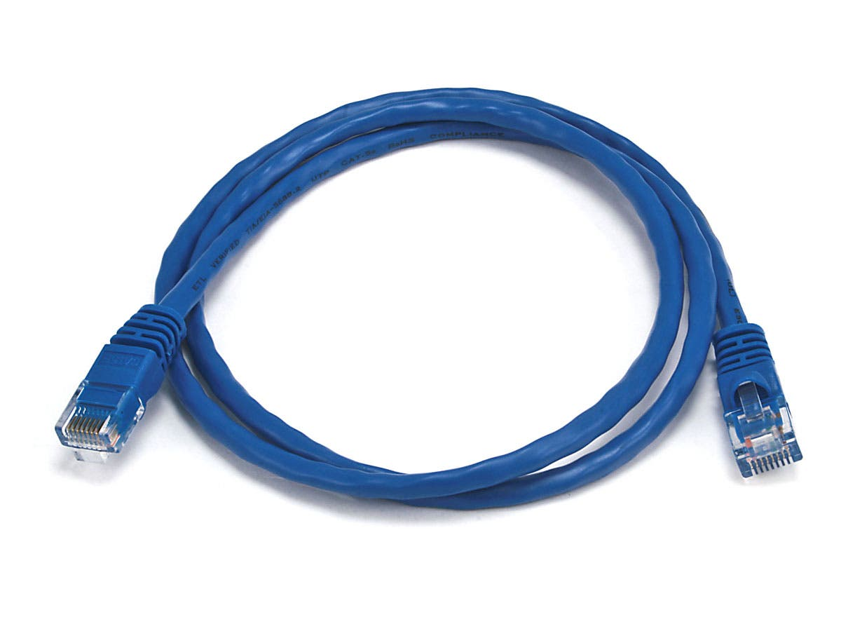 Cat5e 24AWG UTP Ethernet Network Patch Cable, 3ft Blue