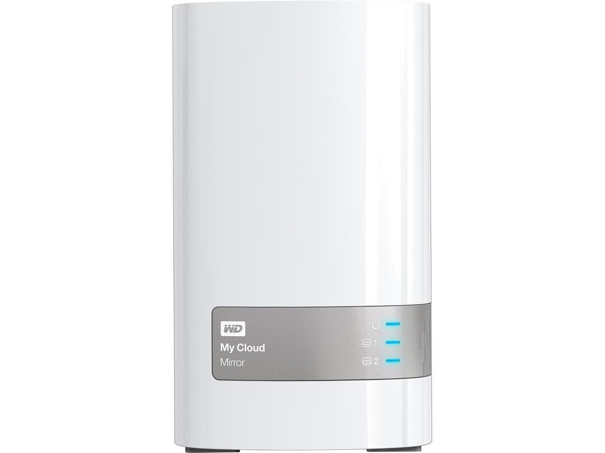 "WD My Cloud Mirror (Gen 2) Personal Cloud Storage - Dual-core (2 Core) 1.30 GHz - 2 x Total Bays - 12 TB HDD - 512 MB RAM - Serial ATA/300 - RAID Supported 0, 1, JBOD - 2 x 3.5"" Bay"