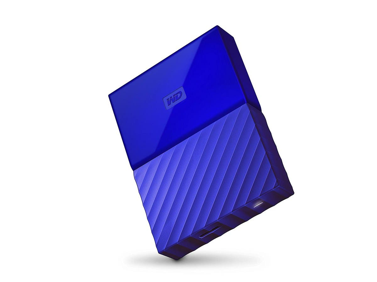 WD 4TB Blue My Passport  Portable External Hard Drive - USB 3.0 - WDBYFT0040BBL-WESN