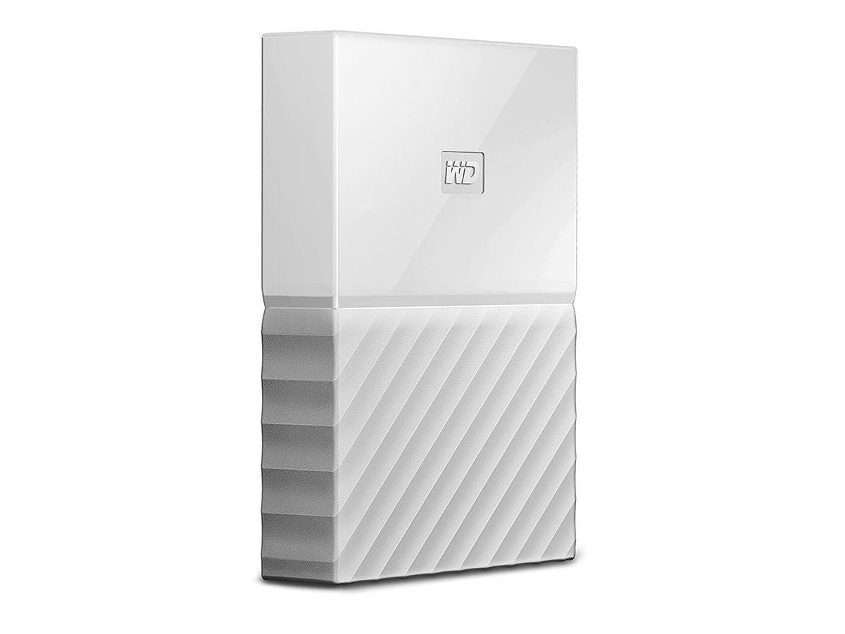 WD 4TB White My Passport  Portable External Hard Drive - USB 3.0 - WDBYFT0040BWT-WESN