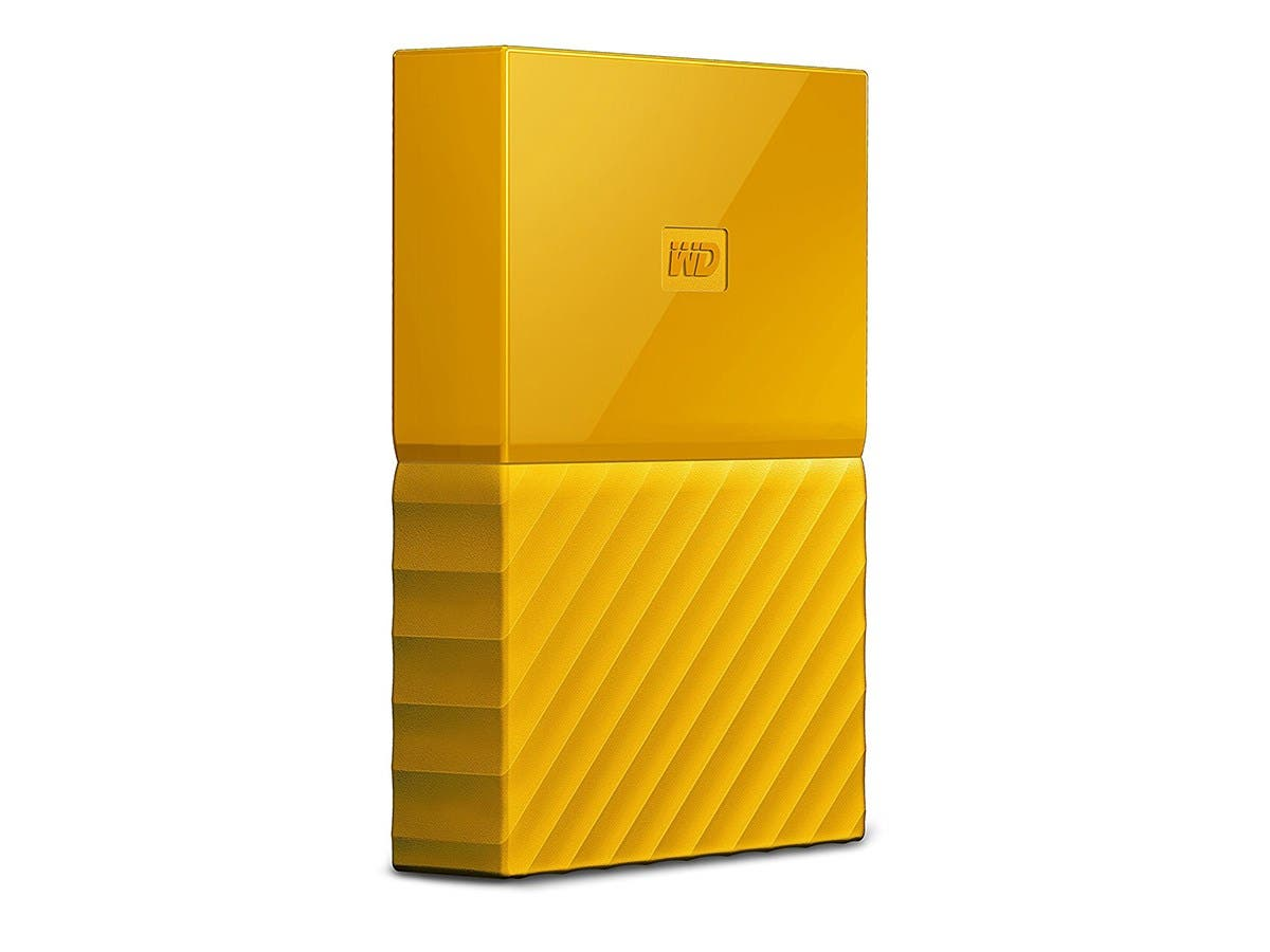 WD 4TB Yellow My Passport  Portable External Hard Drive - USB 3.0 - WDBYFT0040BYL-WESN-Large-Image-1